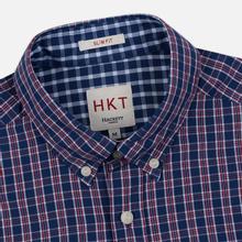 Мужская рубашка Hackett Logo HKT Delave Prep Check Navy/Red фото- 1