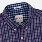 Мужская рубашка Hackett Logo HKT Delave Prep Check Navy/Red фото - 1