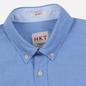Мужская рубашка Hackett Logo HKT Washed Pinpoint Blue фото - 1