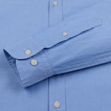 Мужская рубашка Hackett Logo HKT Washed Pinpoint Blue фото- 2