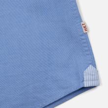 Мужская рубашка Hackett Logo HKT Washed Pinpoint Blue фото- 3