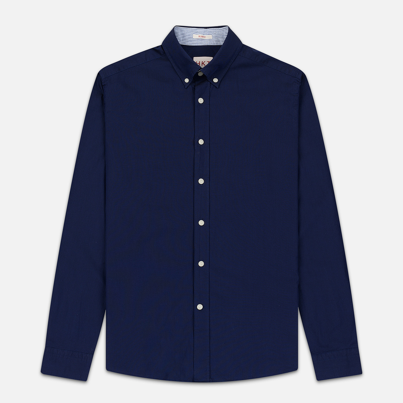 Мужская рубашка Hackett Logo HKT Washed Pinpoint Navy