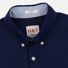 Мужская рубашка Hackett Logo HKT Washed Pinpoint Navy фото- 1
