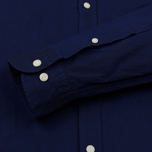 Мужская рубашка Hackett Logo HKT Washed Pinpoint Navy фото- 2