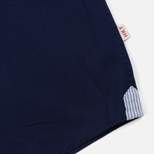 Мужская рубашка Hackett Logo HKT Washed Pinpoint Navy фото- 3