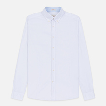 Мужская рубашка Hackett Logo HKT Washed Pinpoint White фото- 0