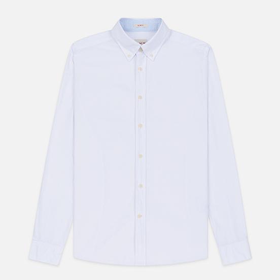 Мужская рубашка Hackett Logo HKT Washed Pinpoint White