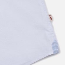 Мужская рубашка Hackett Logo HKT Washed Pinpoint White фото- 3