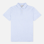 Hackett Mayfair Oval Print Men's Polo White/Sky photo- 0