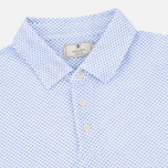 Hackett Mayfair Oval Print Men's Polo White/Sky photo- 1