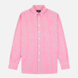 Мужская рубашка Hackett Multi Gingham Coral/Ecru фото- 0