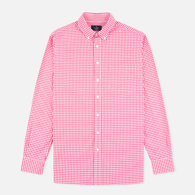 Мужская рубашка Hackett Multi Gingham Coral/Ecru