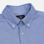 Мужская рубашка Hackett Oxford Logo Navy фото- 1