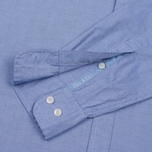 Мужская рубашка Hackett Oxford Logo Navy фото- 4