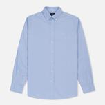 Мужская рубашка Hackett Oxford Logo Sky фото- 0