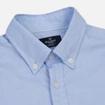 Мужская рубашка Hackett Oxford Logo Sky фото- 1