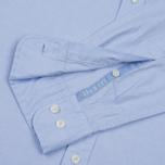 Мужская рубашка Hackett Oxford Logo Sky фото- 4