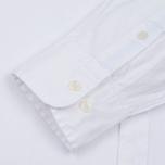 Мужская рубашка Hackett Oxford Logo White фото- 3