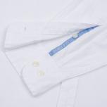 Мужская рубашка Hackett Oxford Logo White фото- 4