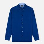 Мужская рубашка Hackett Plain Linen Navy фото- 0