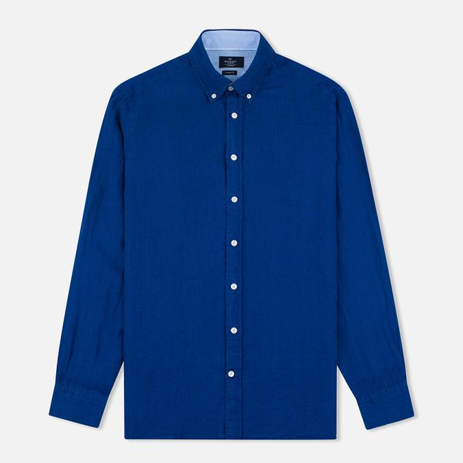 Мужская рубашка Hackett Plain Linen Navy