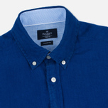 Мужская рубашка Hackett Plain Linen Navy фото- 1
