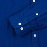 Мужская рубашка Hackett Plain Linen Navy фото- 2