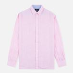 Мужская рубашка Hackett Plain Linen Pink фото- 0