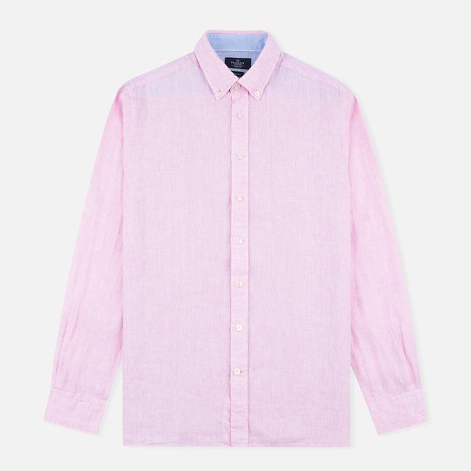 Мужская рубашка Hackett Plain Linen Pink