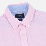 Мужская рубашка Hackett Plain Linen Pink фото- 1