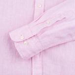Мужская рубашка Hackett Plain Linen Pink фото- 2