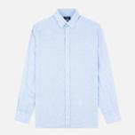 Мужская рубашка Hackett Plain Linen Sky фото- 0