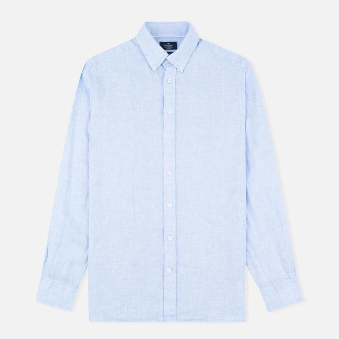 Мужская рубашка Hackett Plain Linen Sky