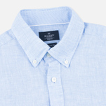 Мужская рубашка Hackett Plain Linen Sky фото- 1