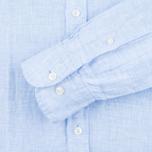 Мужская рубашка Hackett Plain Linen Sky фото- 2