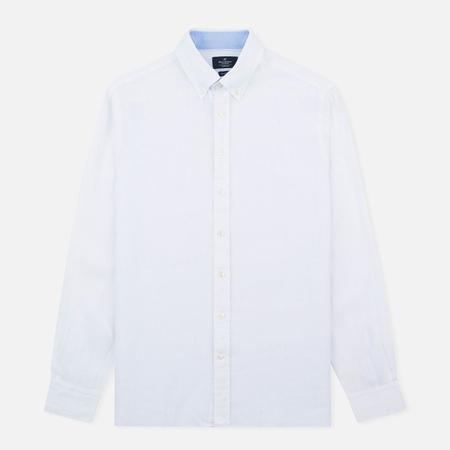 Hackett Plain Linen Men's Shirt White