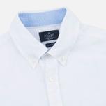 Мужская рубашка Hackett Plain Linen White фото- 1