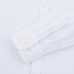 Мужская рубашка Hackett Plain Linen White фото- 2