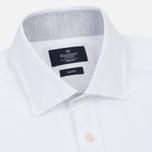 Мужская рубашка Hackett Plain Melange White фото- 1
