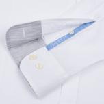 Мужская рубашка Hackett Plain Melange White фото- 3