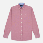 Мужская рубашка Hackett Plain Oxford Berry фото- 0