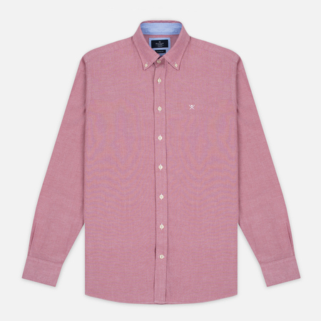 Hackett Plain Oxford Men's Shirt Berry