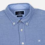 Мужская рубашка Hackett Plain Oxford Blue фото- 1