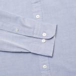 Мужская рубашка Hackett Plain Oxford Indigo фото- 3