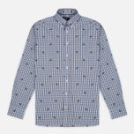 Мужская рубашка Hackett Springer Check Blue/Brown фото- 0