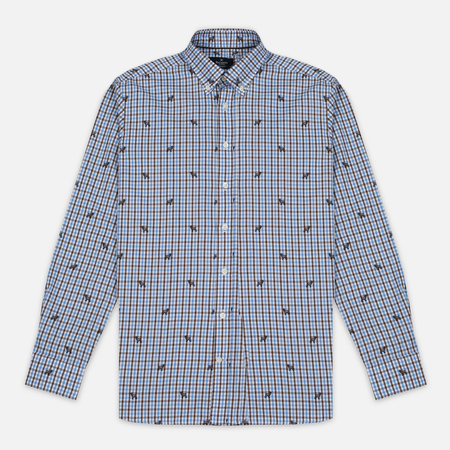 Hackett Springer Check Men's Shirt Blue/Brown