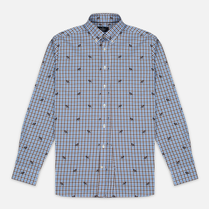 Мужская рубашка Hackett Springer Check Blue/Brown