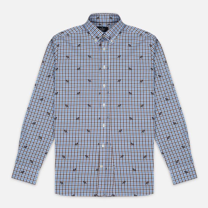 Мужская рубашка Hackett Springer Check Blue/Brown