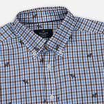 Мужская рубашка Hackett Springer Check Blue/Brown фото- 1