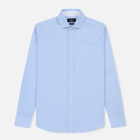 Мужская рубашка Hackett Textured Gingham Sky/Multi